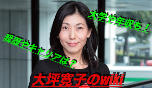大坪寛子のwiki風プロフと経歴・キャリア!出身大学や年収は?