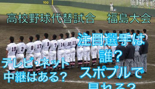 高校野球代替試合の福島大会テレビ・ネット中継動画!スポブルは?