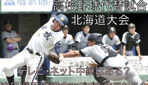 高校野球代替試合の北海道大会テレビ・ネット中継動画!スポブルは?
