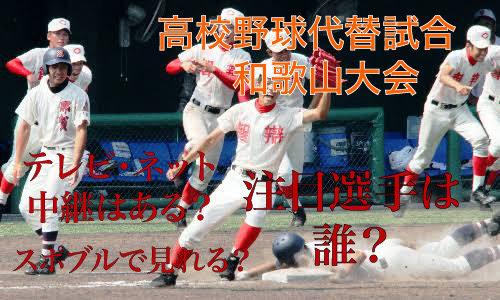 高校野球代替試合の和歌山大会テレビ・ネット中継動画!スポブルは?